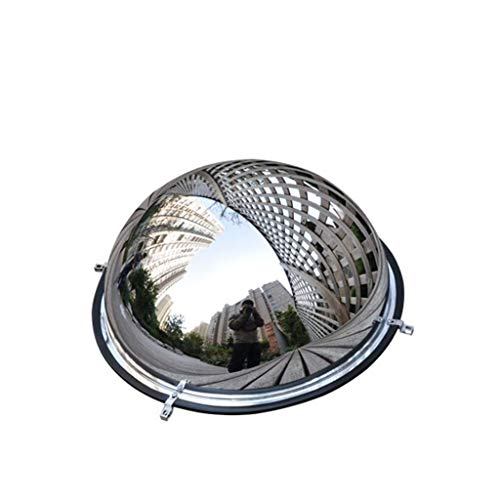 Hemispherical Mirror Ball One-Half Reflective Spherical Convex Surface Road Turning Wide-Angle Lens Indoor and Outdoor Clear Viewing Mirror Y0620QA (Size : 45cm)