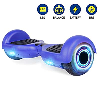 YHR Hoverboards with LED Lights UL2272 Certified 6.5 inch Self Balancing Hoverboard for Kids Adults: Sports & Outdoors