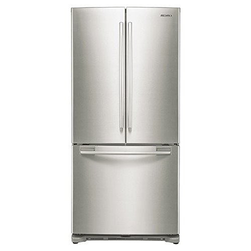 Counter Depth Fridge - SAMSUNG RF18HFENBSR Counter-Depth French Door Refrigerator, 17.5 Cubic Feet, Stainless Steel