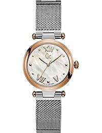 Womens Gc PureChic 32mm Steel Bracelet & Case Quartz MOP Dial Analog Watch Y31003L1