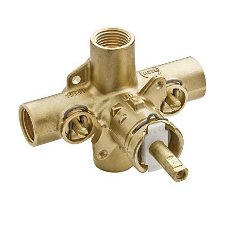 MOEN 2590 M-Pact Rough-In Posi-Temp Pressure Balancing Cycling Shower Valve with Stops, 1/2-Inch IPS, 0.5, or or Unfinished ()