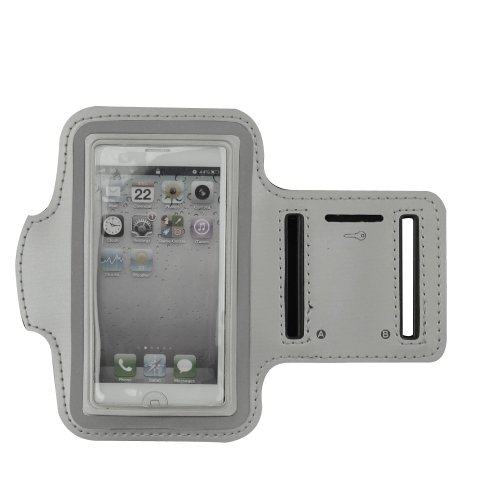 - Deluxe Good Quality Workout Running GYM Armband Case for Apple iPhone 5 5G/iphone 4/4S /iPod Touch 4th 5G (Silver)