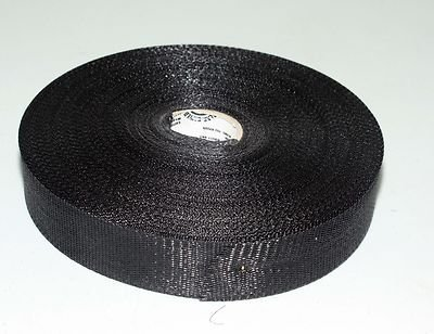 "Black Nylon Duct support webbing strap Belt 1 3/4"" x 300 ft"