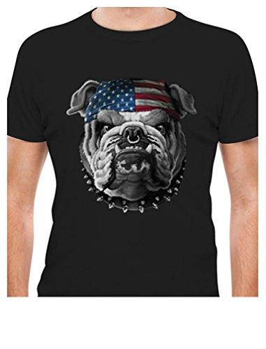 Tstars TeeStars - USA Mascot Flag Bulldog Army Marine Corps 4th July T-Shirt Large (Mascot Dog Clothes)