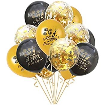 Amazon.com: 15pcs Happy New Year Balloons Sets Latex ...
