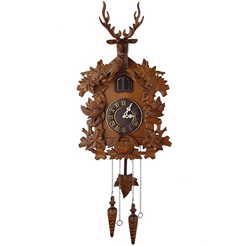 Kendal Handcrafted Wood Cuckoo Clock - Clock Battery Cuckoo