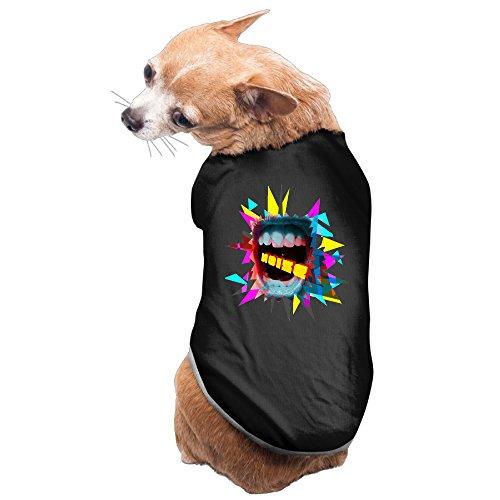 Guns N Roses Slash Costume (Bekey Cute Dead Make Some Noise Pet Dog Puppy Vest Black Size M)