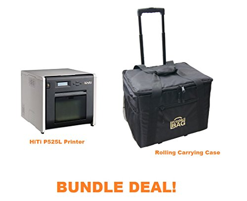 Hiti P525L Photo Printer - BUNDLE - with Rolling Carrying Case by Hiti