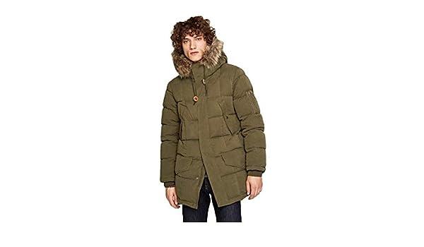 Pepe Jeans - Woodlands - Abrigo DE Plumas Largo con Capucha Desmontable - 886 Truffle - para Hombre: Amazon.es: Ropa y accesorios