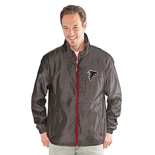 G-III Sports NFL Atlanta Falcons The Executive Full Zip Jacket, Large, Charcoal Gray (Jacket Mens G-iii)