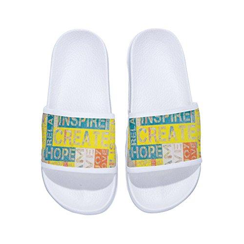 Mujer Blanco Secado para Rápido Clásico de Zapatillas con Letras Diseño Antideslizantes XvRRw