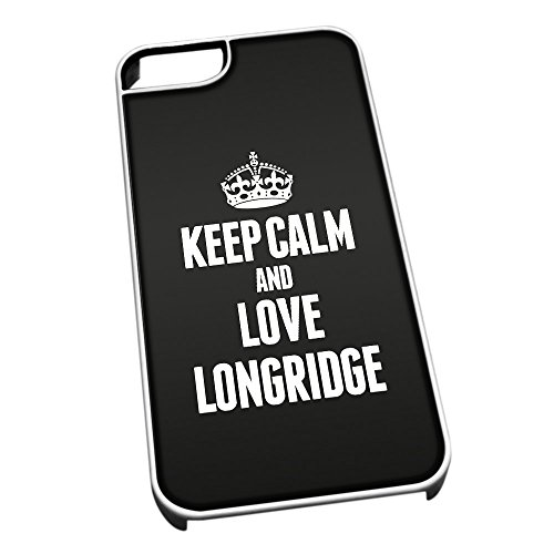 Bianco Custodia protettiva per iPhone 5/5S 0392NERO Keep Calm e Love Longridge