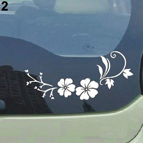 Vogue Bonnet - Mildred Rob Reflective Flower Vine Car Bonnet Body Window Sticker Car Auto Decal Vogue