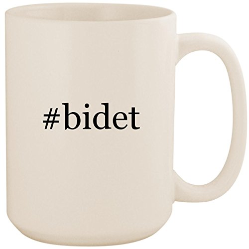 #bidet - White Hashtag 15oz Ceramic Coffee Mug Cup