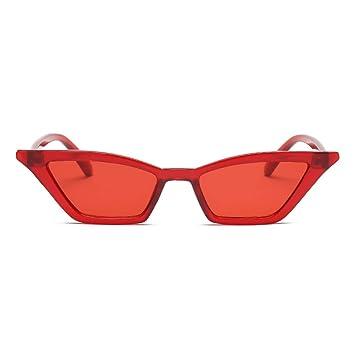 KUNHAN Gafas de sol Señoras Sombras Rojas Gafas Cuadradas ...