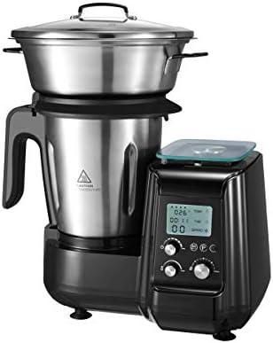 AIFEEL 1000W Multifunzione Robot da Cucina con Funzione Cottura, 2,5 Litri in Acciaio Inossidabile, Bilancia Integrata, 12 Velocità con Pulse, 18 Accessori Inclusi, Programmabile, Senza BPA