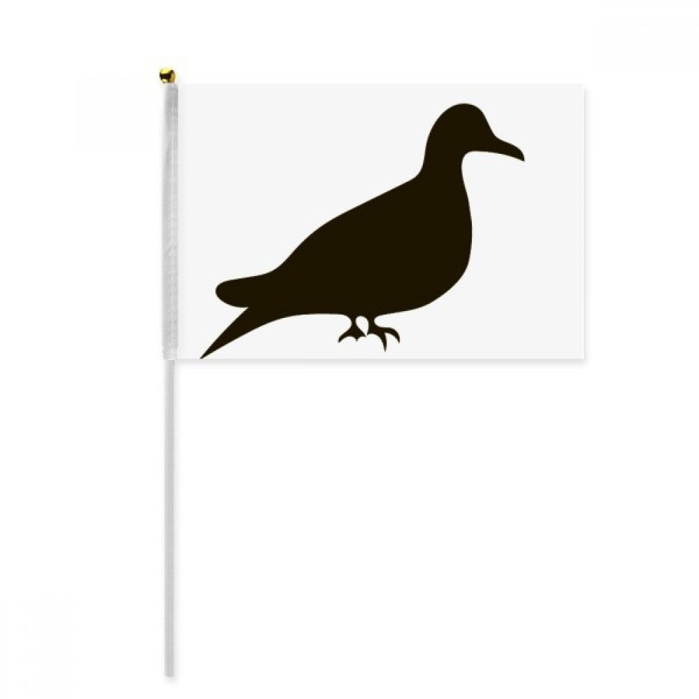 Black Pigeon Animal Portrayal Hand Waving Flag 8x5 inch Polyester Sport Event Procession Parade 4pcs