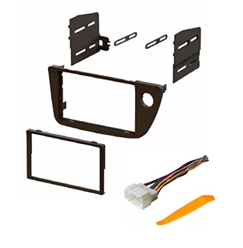 ASC Audio Car Stereo Dash Install Kit and Wire Harness for Installing an Aftermarket Double Din Radio for 2002 2003 2004 2005 2006 Acura RSX