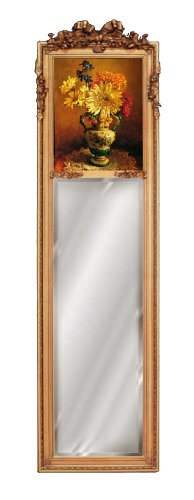 Hickory Manor House Strip Mirror with Picture Bella Bella