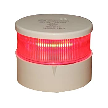 Image of Aqua Signal All Round Red LED Navigation Light with White Housing Electrical Equipment