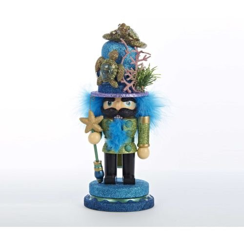 Kurt Adler Hollywood Nutcracker with Sea Turtle Hat, 11-Inch