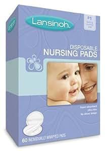Lansinoh 20265 Disposable Nursing Pads, One box of 60-ct pads [Item #54265]