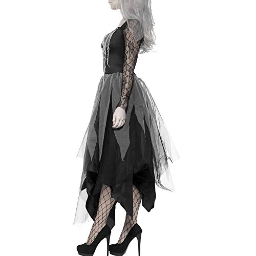 Scorpiuse Halloween Zombie Bride Costume Ghost Graveyard Corpse Bride Dress for Adult Women (L) by Scorpiuse (Image #2)