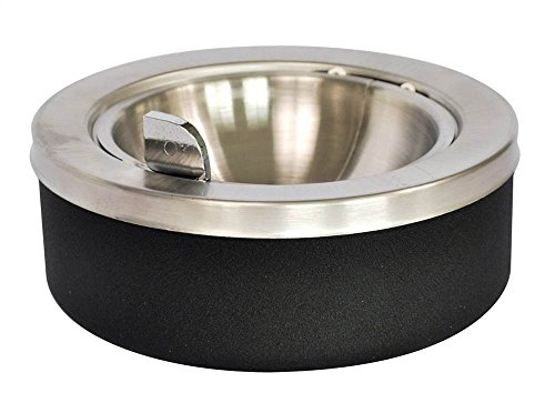 (Ex-Cell Kaiser 63 BLX Tabletop Ashtray with Flip Top, 8