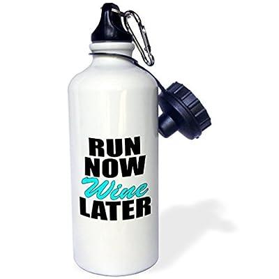 Run Now Wine Plus Tard Turquoise Sports Bouteille d'eau en acier inoxydable Bouteille d'eau pour femme homme enfants 400ml