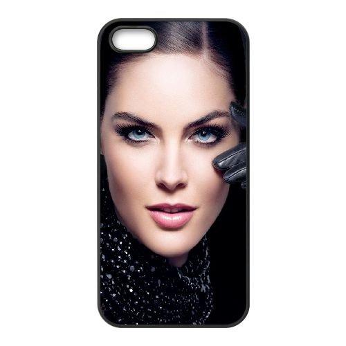 Girl Model Brunette Eyes Look LiPs Hand 16735 coque iPhone 5 5S cellulaire cas coque de téléphone cas téléphone cellulaire noir couvercle EOKXLLNCD24002