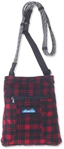 KAVU Keepon Keepin Plaid Semi Padded Sling Lightweight Rope Crossbody Bag