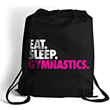 Eat. Sleep. Gymnastics. Cinch Sack | Gymnastics Bags by ChalkTalkSPORTS | Multiple Colors