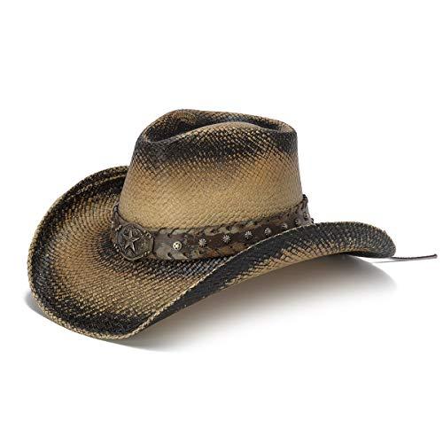Stampede Hats Men's Lone Star Vintage Lone Star Western Hat L Black Stain ()