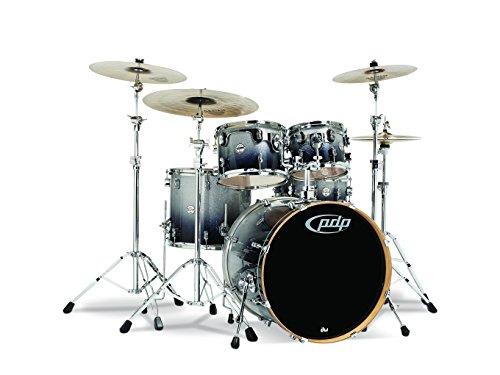Pacific Drums & Percussion PDCM2215SB CM5 Concept Maple Drum 5-Piece Shell Pack - Silver Black Fade
