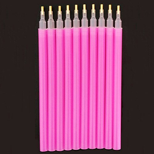 Bodhi2000 10pcs Nail Art DIY Rhinestones Picking Tools Pens Dotting Pick Up Pen Set