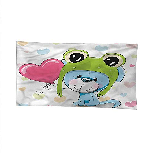 - Cartoonfunny tapestryquote tapestryPuppy Dog in Frog Hat 60W x 51L Inch