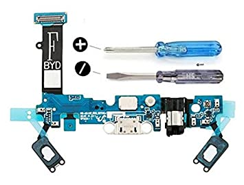 MMOBIEL Conector Dock Cargador para Samsung Galaxy A5 A510F (2016) de Repuesto. Puerto Micro USB Cable Flex con Adhesivo. Incluye Dos Destornilladores ...