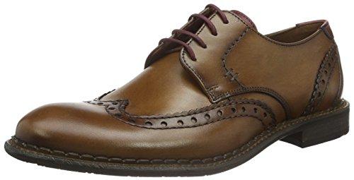 Lloyd Giles, Zapatos de Cordones Derby para Hombre Marrón - Braun (Cognac/Bordo 1)
