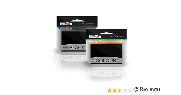 Prestige Cartridge HP 338 & HP 344 - Pack de 2 cartuchos de tinta remanufacturados, tricolor y negro: Amazon.es: Oficina y papelería