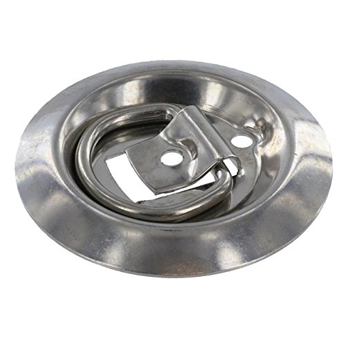 Stainless Steel Flush Mount D-Rings 800 lbs 4 pack