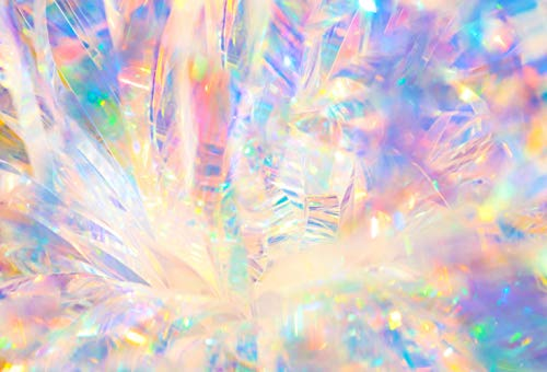 (7x5ft Abstract Radiant Holographic Iridescent Sparkling Crystal Ice Reflections Bokeh Light Christmas Pictorial Cloth Customized Photography Backdrops Digital Printed Background Photo Studio Prop)