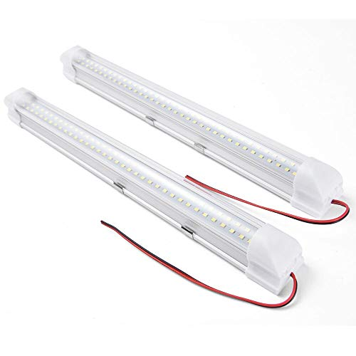 SS VISION 13.5″ Car Interior Led Light Bar – 12V 3.5w 72 LED Lamp with On/Off Switch for Van Lorry Truck Camper Boat, 2 Pack