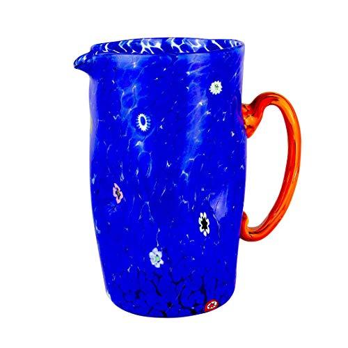 Murano Glass Decanter - Original Murano Glass OMG Pitcher Monocrome - Blue