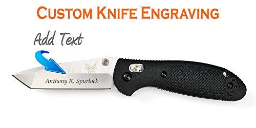 Custom Laser Engraved Benchmade Mini-Griptilian Tanto Pla...