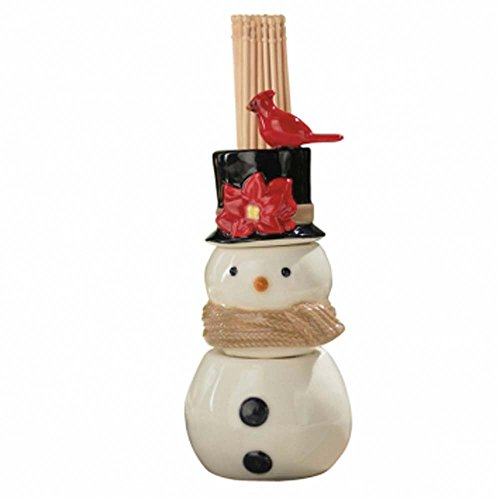 Grasslands Road Christmas Song Snowman Salt and Pepper Shaker and Toothpick (Japan China Silver Wreath)