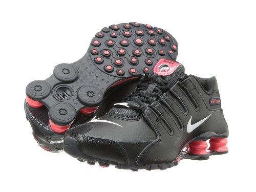 Nike Womens Nike Shox NZ EU BlackAnthraciteLaser CrimsonWhite 12 B  Medium  B00FFM5G2K