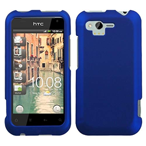 Insten Rubberized Hard Snap-in Case Cover Compatible with HTC Rhyme/Bliss, Blue