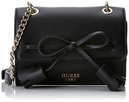 GUESS Leila Mini Crossbody Flap, Black