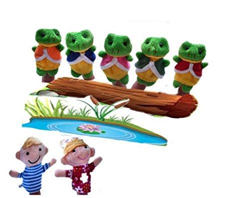 [해외]Goodscene Perfect Educational Toys 7 Pcs Story Telling Sack Bag Finger Puppets Nursery Rhyme Fairy Tale Aussie Toys Children Gift Present (Five Little Speckled Frogs) / Goodscene Perfect Educational Toys 7 Pcs Story Telling Sack Ba...