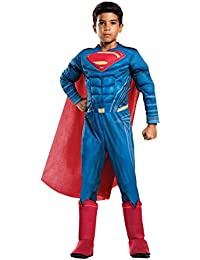 Boys Justice League Deluxe Superman Costume, Small, Multicolor